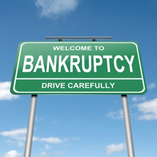 declaring yourself bankrupt